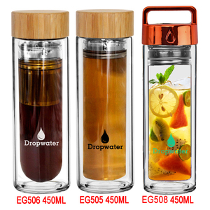 New design reusable tea glass bottle, personalized iced tea water bottle drinking product
