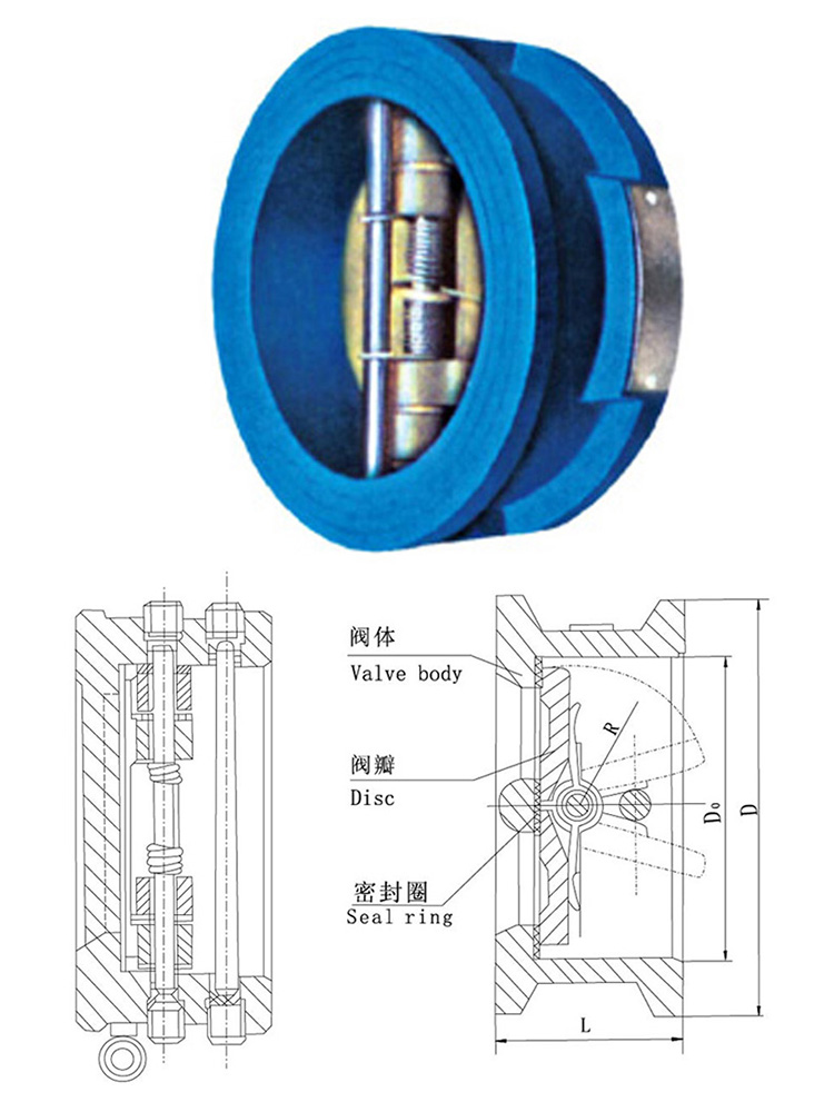 10 Inch Lp Flap Disc Butterfly Type Silent Check Valve