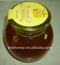 honey syrup in apple jar