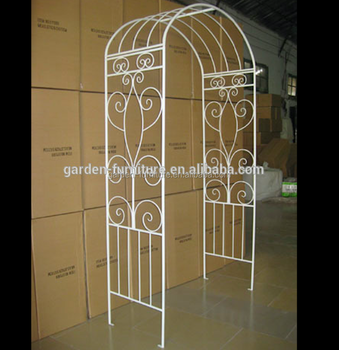Best Quality Modern Type White Wedding Garden Arch Wrought Iron Metal Arches