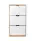 Hot sale modern style melamine large capacity shoe cabinet cheap