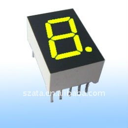 0.36 inch yellow color led electronic digital substitute board display single digit