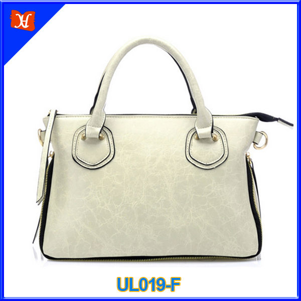 2014 The latest design beige oil-tanned leather handbag
