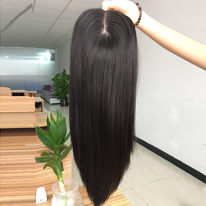 hot sell China wig Silk base Indian remy hair replacement real human hair womens toupee