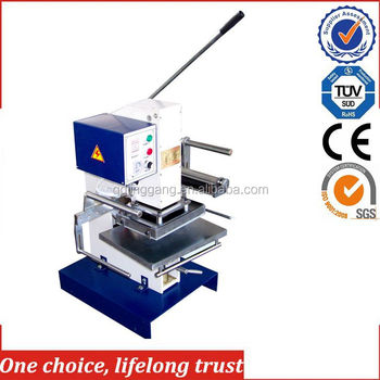 TJ-30 new product manual embossing machine for iphone 6 leather case