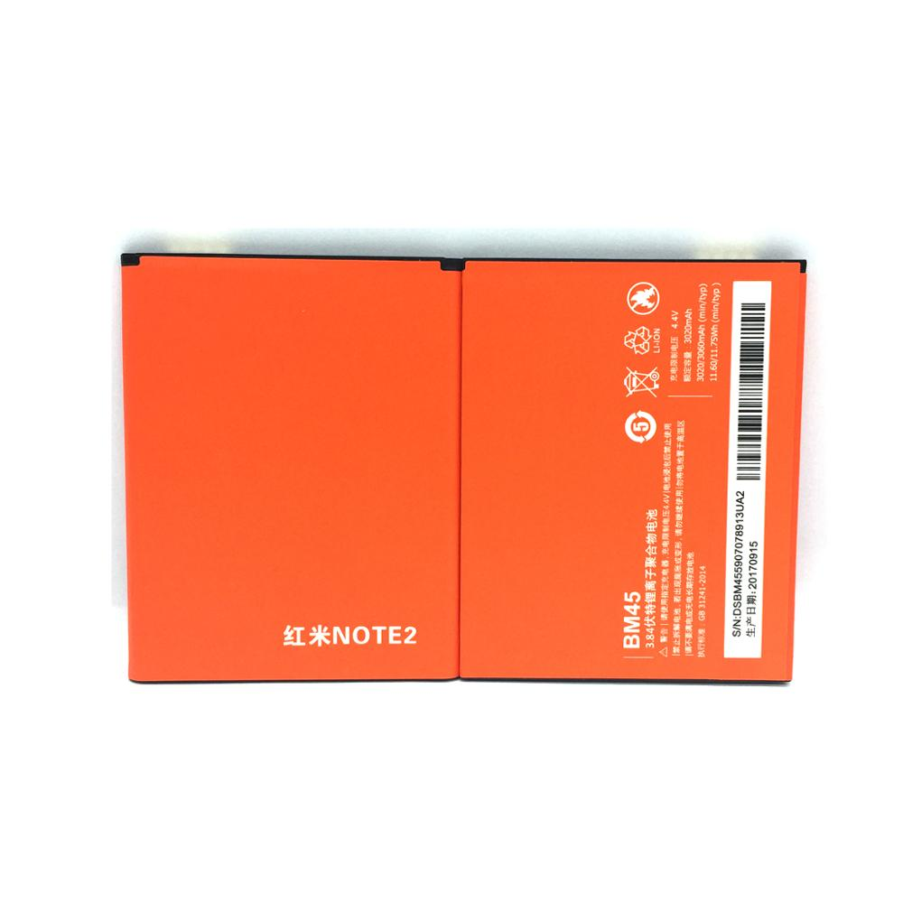 Gb T18287 2000 Mobile Phone Battery 3.84V Bm45 For Xiaomi Hongmi Redmi Note 2 Note2 Batteries