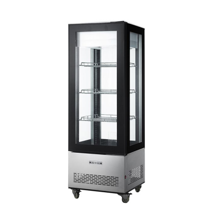 78L Commercial Four side Glass Door Chocolate Showcase