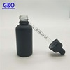 30ml frosted matte black glass eliquid bottles 1oz black dropper bottles with glass pipette 30ml essential oil envase