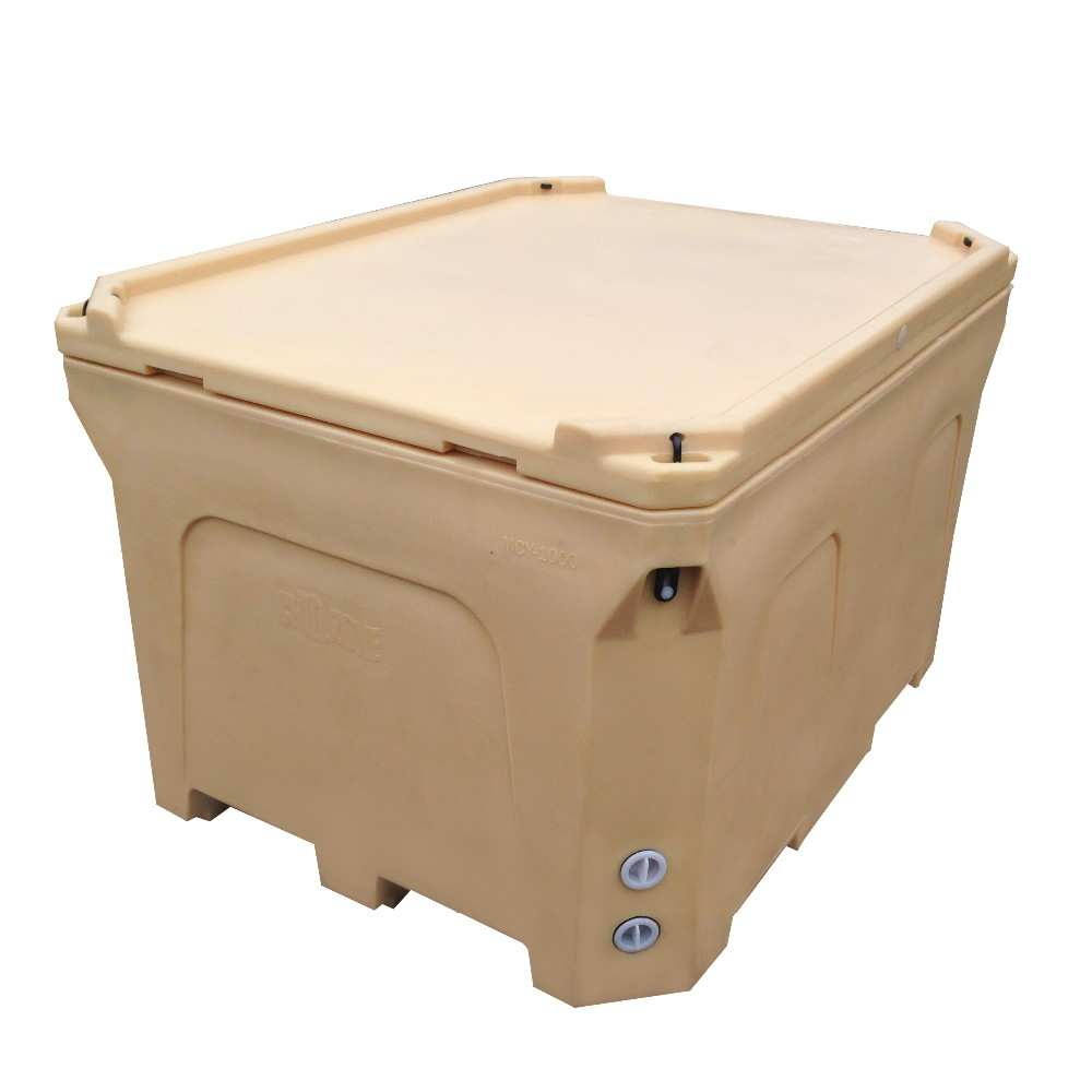 600l rotational molding cooler rotomolded fish box cooler for Fishpond products