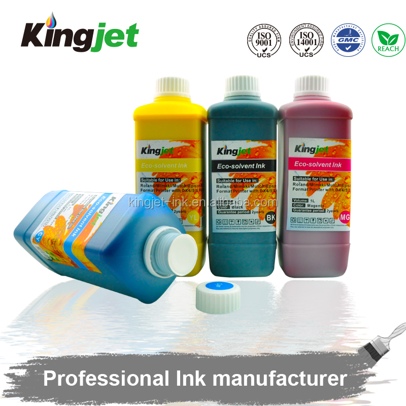 flat bed canvas printing eco solvent ink for epson dx4 dx5 dx6 dx7 print head