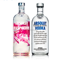 glass spirit absolut vodka glass bottle 750ml 1L