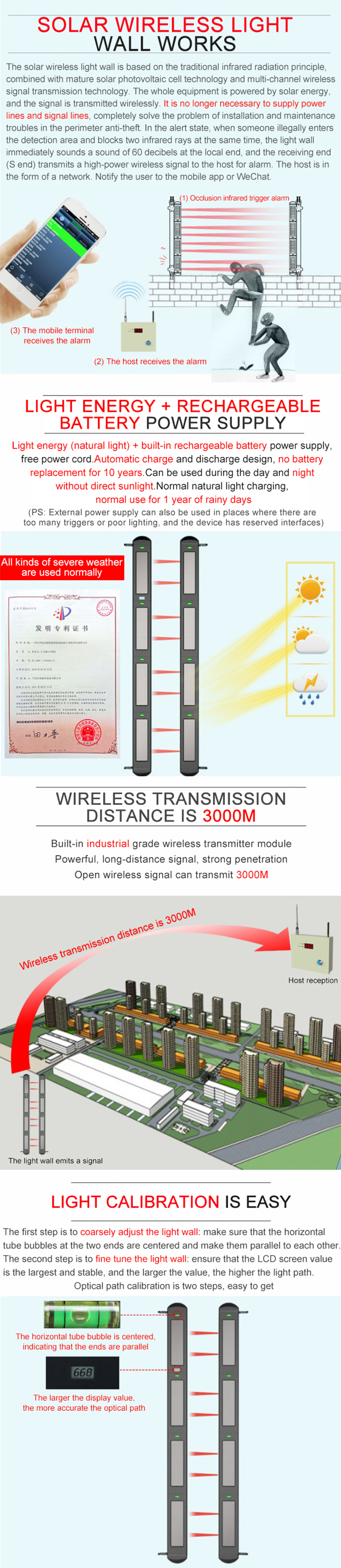 Sensor intrusion detection laser security alarm system