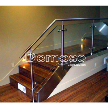 Portable Indoor Glass Stair Railing Design New/glass Stair Railing Cost