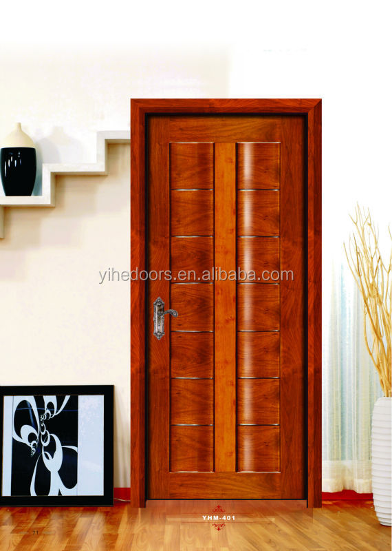 Modern Bathroom Door Design Solid Wood Door With Painting Interior Door