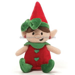 Cheap LOW MOQ Soft Plush Girl Christmas Elf Doll 2018 New Gift Christmas Plush Toys