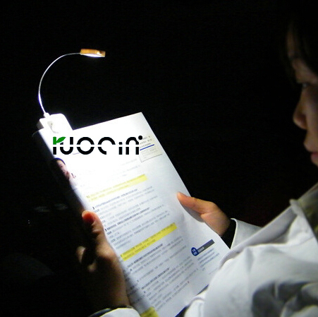 White Led Book Light With Flexible Portable Travel Reading Task ...