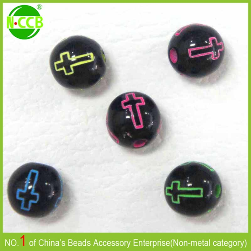 Cheap plastic wholesale loose cross beads for rosary making
