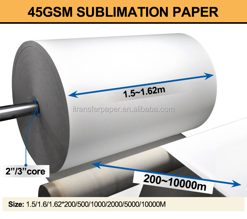 Vision Jumbo roll 45gsm paper sublimation paper transfer