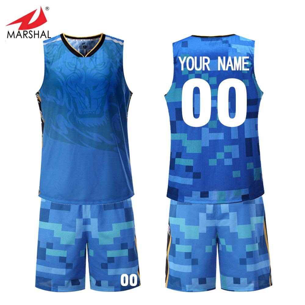 acc104ccc888 Get Quotations · Marshal Jersey Custom Personalized Sublimation Team Basketball  Uniform