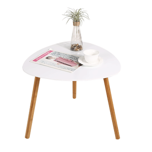 scandinavian Wood triangle side table Living Furniture