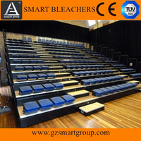 Wholesale indoor folding chair bleachers retractable seating system telescopic gym seating