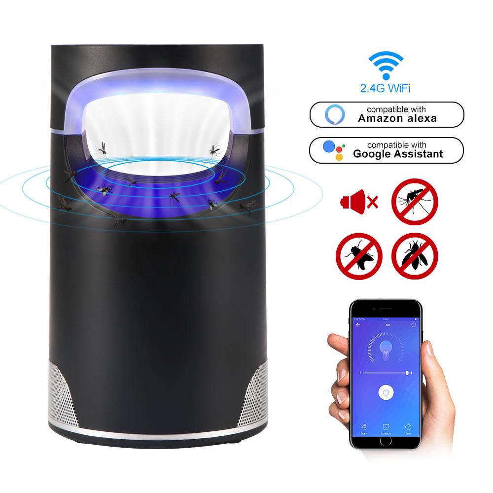 WiFi スマート蚊キラーランプ LED バグザッパー抗蚊キラーランプ昆虫トラップランプキラーホームリビングルーム害虫制御