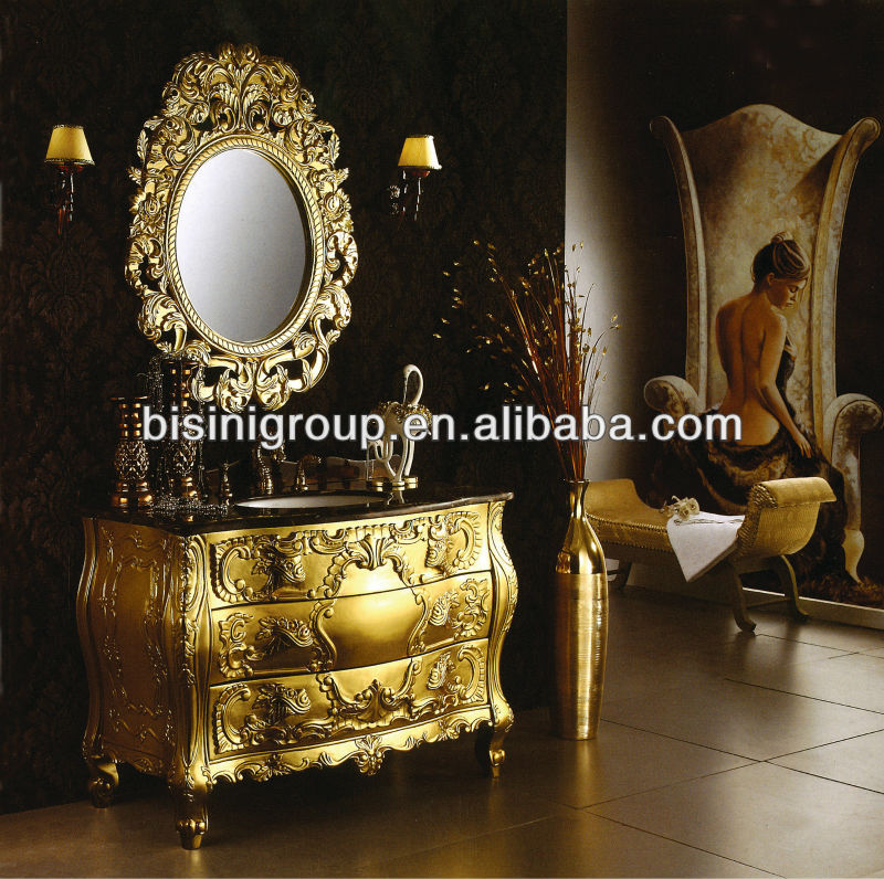 Luxury commercial bathroom vanities,European style selections bathroom vanities,Antique Cabinet bathroom(BF08-4114)