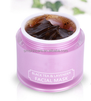 Black Tea Lavender Facial Mask Whitening Anti-oxidant Moisturizing Face Care