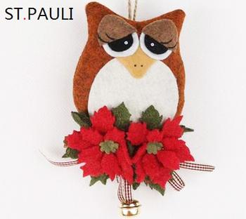 Handmade Felt Stuffed Tree Hanging Decoration Owl Christmas
