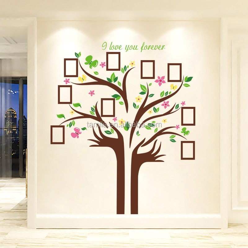 New Design Large Family Tree Vinyl Wall Decal Peel And Stick Vinyl Wall Art  DIY Photo