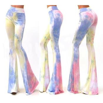 fd565ad07721 Zh1246a Cheap New Design Baggy Bell Bottom Pants Women Loose Pants ...