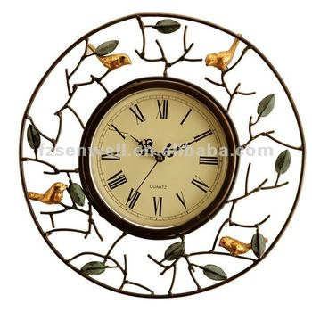 Delicate Metal Bird Wall Clock For Home Furnishing - Buy Delicate ...