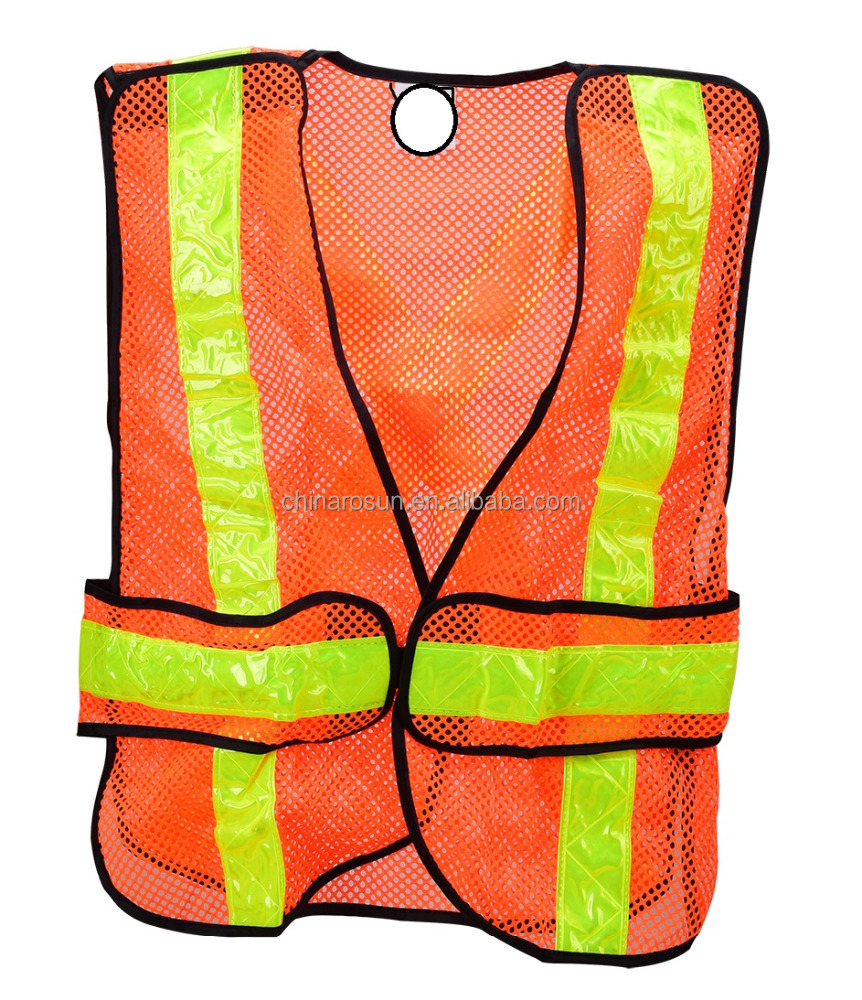 Workplace Safety Supplies Safety Clothing Safety Vest Traffic Fluorescent Hi-vis Pvc Tape/ Mesh Vest
