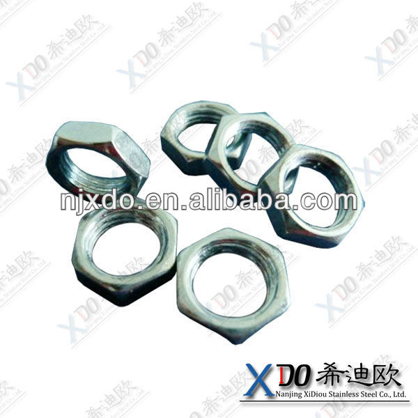 316Ti 316L /304L/1.4301/1.4306 hardware fasteners stainless steel hex thin nut en 24035