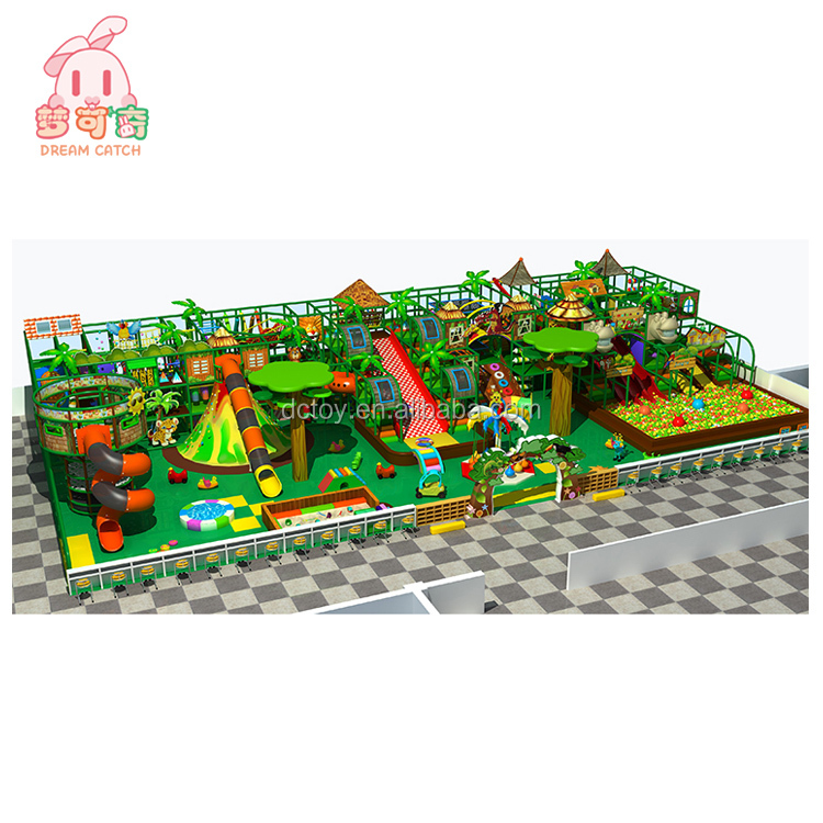 Forest styles indoor kids toy slide nets and metal structure equipment for sale