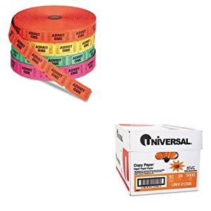 KITPMC59002UNV21200 - Value Kit - Pm Company Admit One Single Ticket Roll (PMC59002) and Universal Copy Paper (UNV21200)