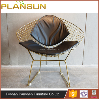 Enjoyable Replica Dining Room Harry Bertoia Style Welded Gold Wire Steel Diamond Lounge Chair Buy Harry Bertoia Diamond Chair Wire Chair Wire Diamond Lounge Alphanode Cool Chair Designs And Ideas Alphanodeonline