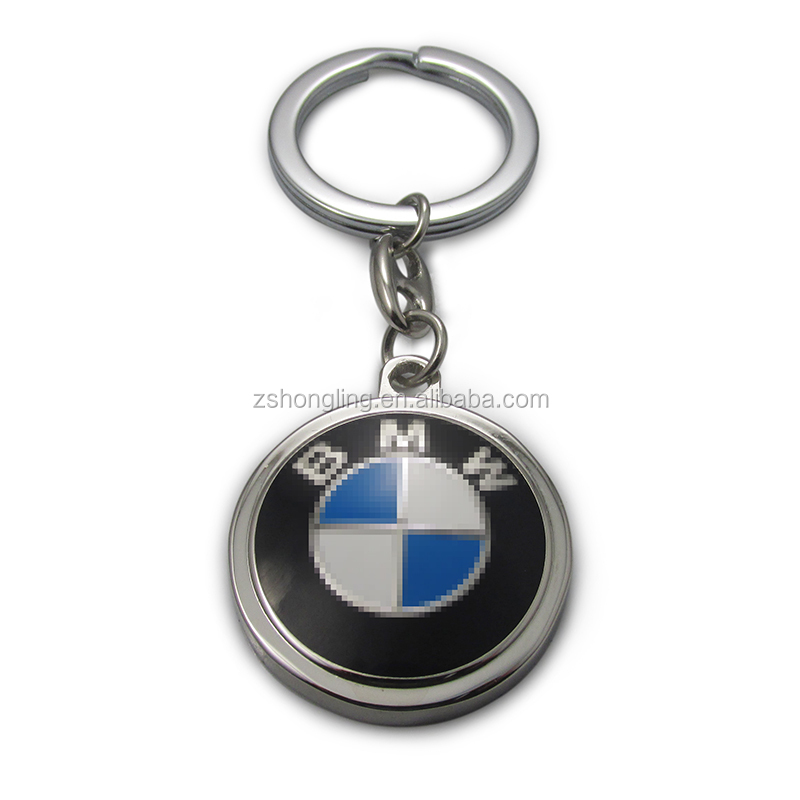 customize car logo key chain with key ring