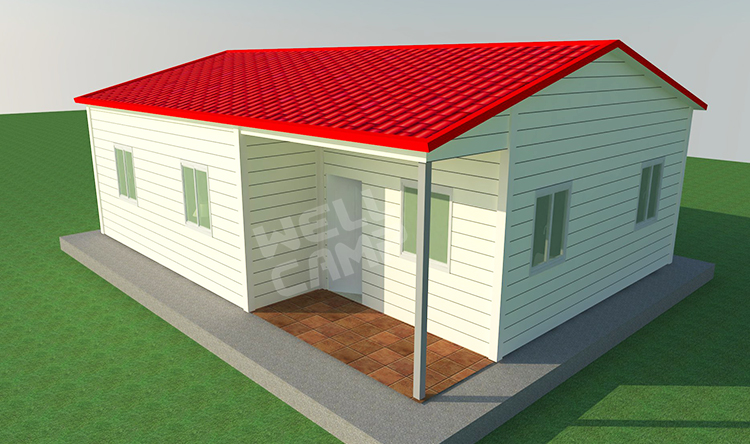 Flat Roof House Designs Steel Structure Modern 3 Bedroom 2 Bathroom House View 3 Bedroom 2 Bathroom House Wellcamp Product Details From Foshan Wellcamp Building Materials Co Ltd On Alibaba Com