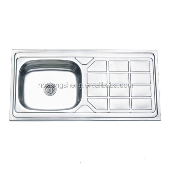stainless steel portable kitchen sink unit with single bowl