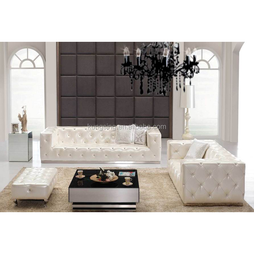 White Leather Eam Chesterfield Sofa Buy Leather Chesterfield Sofa