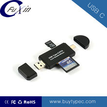 3 in 1 usb c usb3.1 type c micro usb card reader/writer