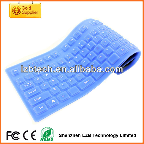 Portable Silicone Keyboard for travelling, foldable travel keyboard