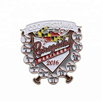 Cooperstown customized baseball team trading pins