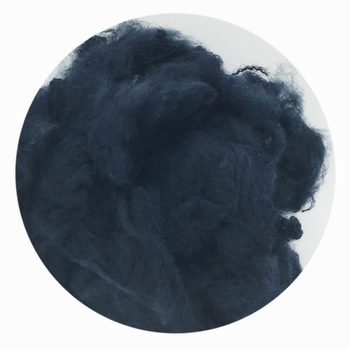 GTR84 navy blue psf recycled polyester fiber for spun yarn