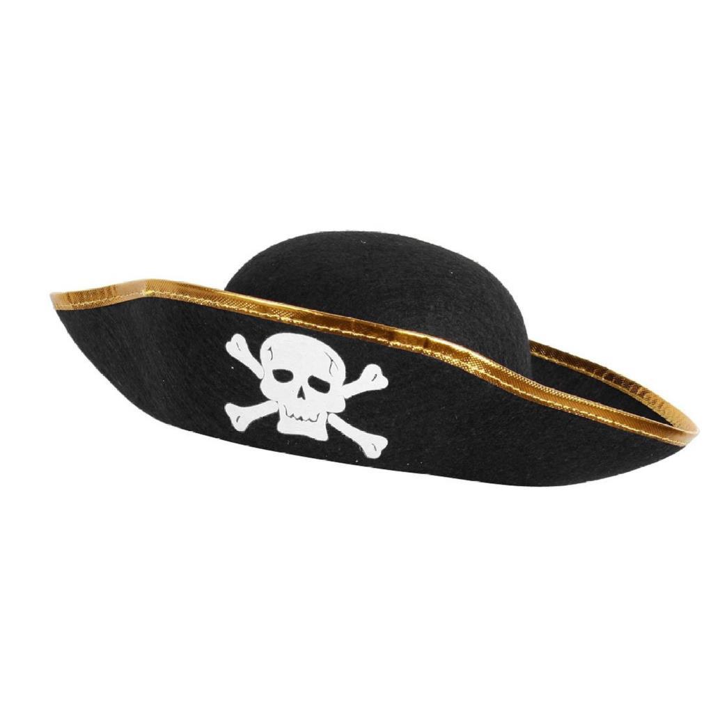 5 Pack Unisex Dressing Up White Skull Pattern Pirate Bucket Hat Cap