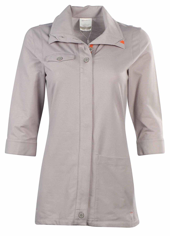 Nike Women's Dri-Fit Slim Fit Sport Full Button Golf Top-Grey