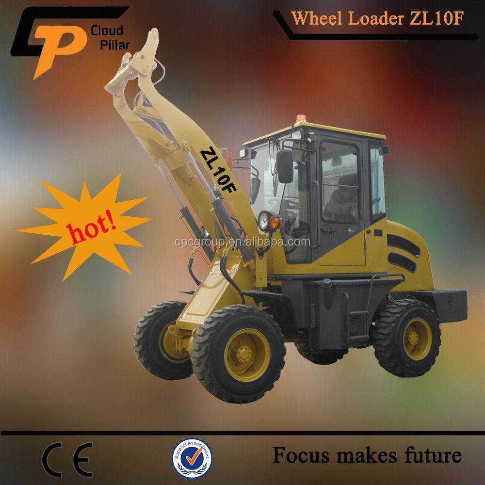 1.0 ton ZL-10F CE Joystick Euro 3 engine articulated mini wheel loader for sale