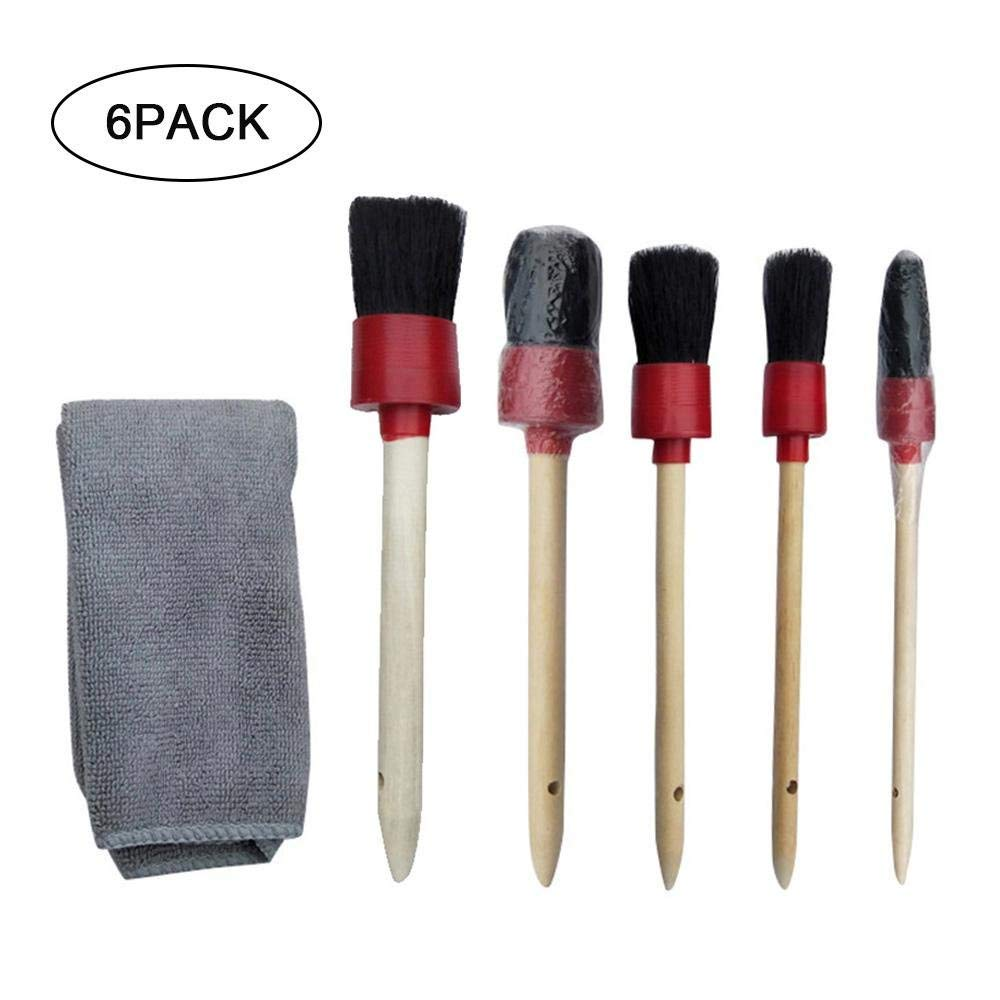 Wheel Rim Brush,Auto Detailing Brush Set for Cleaning Weels Exterior Leather and Automotive Air Conditione Interior