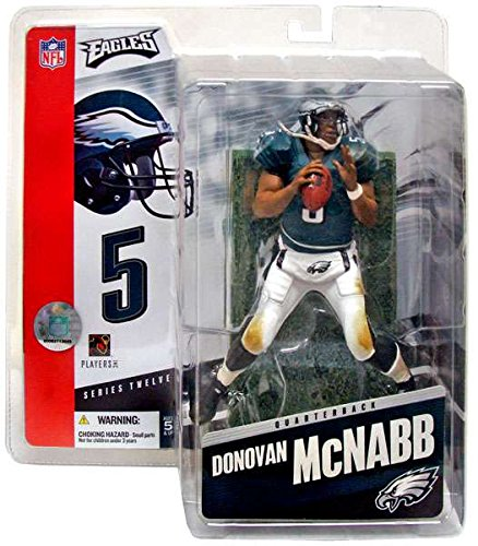 51900de71d2 Get Quotations · DONOVAN MCNABB   PHILADELPHIA EAGLES   GREEN JERSEY    McFarlane 6 Inch NFL SERIES 12 Sports